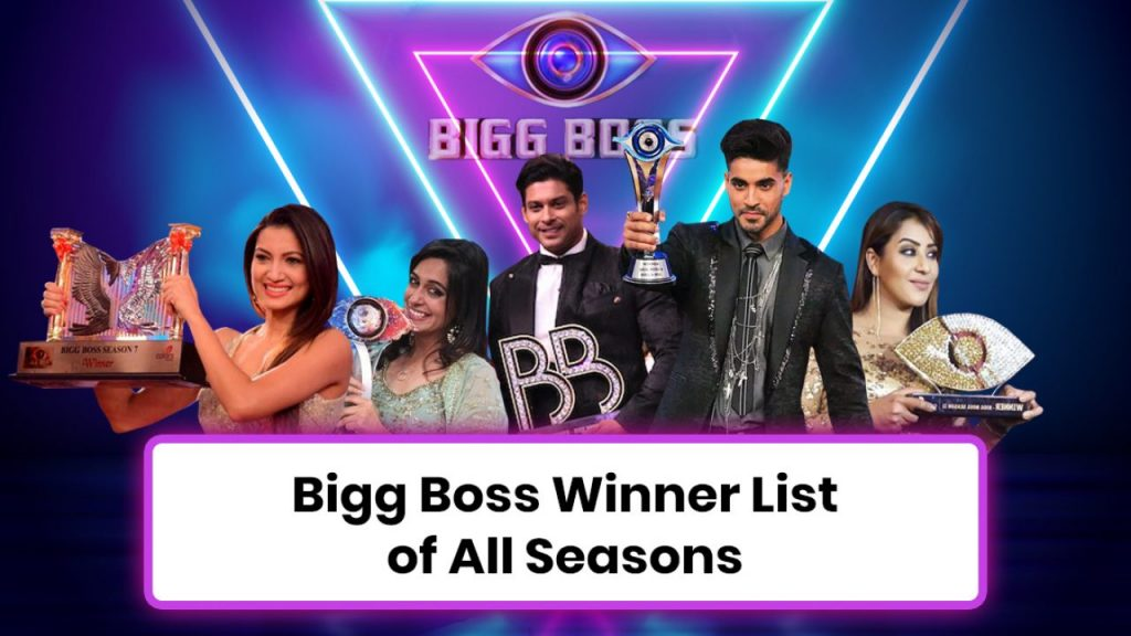 Bigg Boss Winner List With Photos
